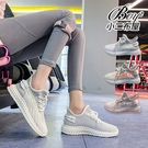 女休閒鞋 INS風飛織網面透氣休閒運動鞋【JPG99135】