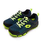 LIKA夢 LOTTO 專業防潑水郊山越野跑鞋 JOURNEY 叢林旅程系列 藍黑綠 1765 男