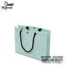 手提袋-編織袋(L)-綠白-01C...
