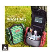 KAZMI 多 盥洗收納包K5T3B008 民族風紅城市綠洲戶外、收納、民族風、盥洗包、旅遊