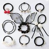 璐菲9件套發圈組合裝裝發飾頭飾頭繩韓國基礎扎頭發繩兒童像皮筋 東京衣櫃