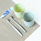 簡約清新刷牙杯 圓形 漱口杯 塑料 水杯 洗漱 杯子 刷牙 牙缸 情侶 居家【P416】米菈生活館