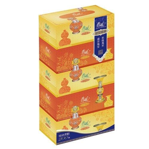 春風盒裝面紙200抽*5盒【愛買】