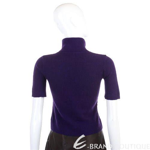 KAPALUA 紫色亮片綴飾高領短袖上衣 0520474-04