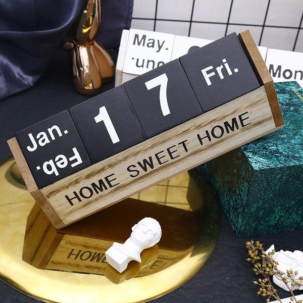 北歐萬年曆 簡約 木質 手動萬年曆 擺飾 裝飾品 日曆 桌曆 萬年曆 週曆 拍攝道具 民宿 咖啡廳