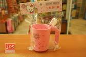 Hello Kitty 凱蒂貓 牙刷杯+牙刷 旅行組 粉 4712977460255