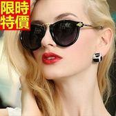太陽眼鏡-偏光明星款復古圓形鏡大框男女墨鏡6色67f49[巴黎精品]