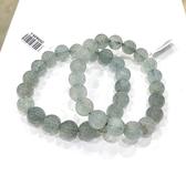 『晶鑽水晶』天然海水藍寶手鍊 約9.5mm 超強護身符 凈化心靈的最佳寶石 喉輪 三月誕生石