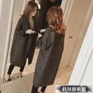 毛呢外套 小個子中長款韓版流行千鳥格毛呢子外套大衣女裝年秋冬季新款 交換禮物