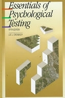 二手書博民逛書店 《Essentials of Psychological Testing》 R2Y ISBN:0060414189│Harpercollins College Division