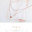 項鍊 韓國韓版超迷你珍珠五角星星雙層短項鍊鎖骨鍊時尚氣質短鍊【1DDN0001】