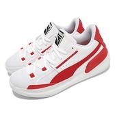 【海外限定】Puma 籃球鞋 Clyde Hardwood Team 男鞋 白 紅 低筒 彪馬 運動鞋【ACS】 19445404
