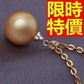 珍珠項鍊 單顆10-11mm-生日情人節禮物璀璨唯美女性飾品53pe23[巴黎精品]