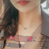 心形S925純銀簡約百搭日韓項練鎖骨練女韓國氣質愛心項練玫瑰金色【奇貨居】