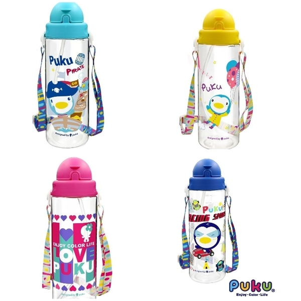 PUKU 藍色企鵝 Tritan滑蓋水壺 500ml 兒童水壺 14729