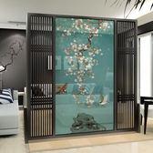 屏風隔斷客廳時尚玄關古典實木中式辦公臥室座屏酒店移動簡約現代