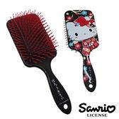 【日本進口正版】Hello Kitty 凱蒂貓 黑和風款 頭皮 按摩梳 梳子 三麗鷗 Sanrio - 019978