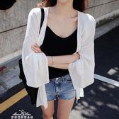 夏季韓版時尚防曬衣女中長款開衫海邊沙灘服百搭薄款外套「夢娜麗莎精品館」
