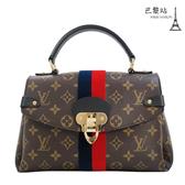 【巴黎站二手名牌專賣店】*現貨*LV 路易威登 真品*M43867 經典花紋藍紅條紋鑲飾手提斜背包