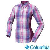 Columbia 女 防曬30快排長袖襯衫 粉紅格紋 UAK18220KC【GO WILD】