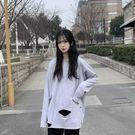 長袖T恤 秋季新款韓版網紅寬鬆白色女超火打底衫上衣ins潮 - 歐美韓