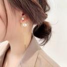 現貨 韓國女神氣質浪漫百搭設計感幾何珍珠...