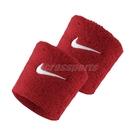 Nike 護腕 Swoosh Wristbands 紅 白 男女款 勾勾 一組兩入 球類運動 運動休閒 【ACS】 NNN0460-1OS