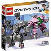 樂高積木 LEGO《 LT75973 》Overwatch 鬥陣特攻系列 - D.Va & Reinhardt╭★ JOYBUS玩具百貨