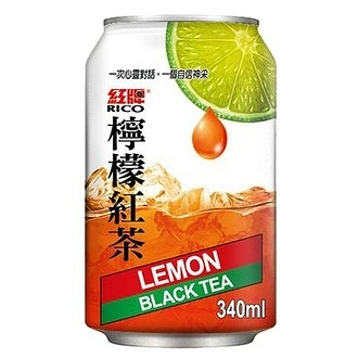 紅牌 檸檬紅茶 340ml【康鄰超市】