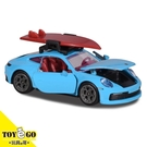 Majorette 美捷輪 保時捷Porche 911 Carrera S 992 Miami blue 衝浪板 TOYeGO 玩具e哥