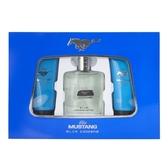 FORD MUSTANG 福特野馬藍調男性淡香水禮盒100ml (淡香水+沐浴膠+鬍後水)