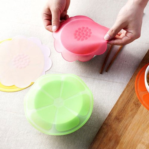 多功能水果花型矽膠保鮮膜 食品級密封保鮮蓋