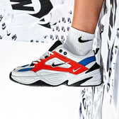 【現貨買鞋送襪】NIKE M2K Tekno OG 休閒鞋 白 橘 藍 男鞋 復古慢跑鞋 老爹鞋 運動鞋 AV4789-100