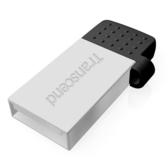 【免運費-限量】Transcend 創見 JetFlash 380 銀 (JF380) 16GB 雙頭 OTG USB2.0 隨身碟 TS16GJF380S