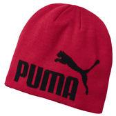 Puma 毛帽 紅 毛球毛帽 男 女 字母 毛帽 保暖 聖誕禮物 05292542