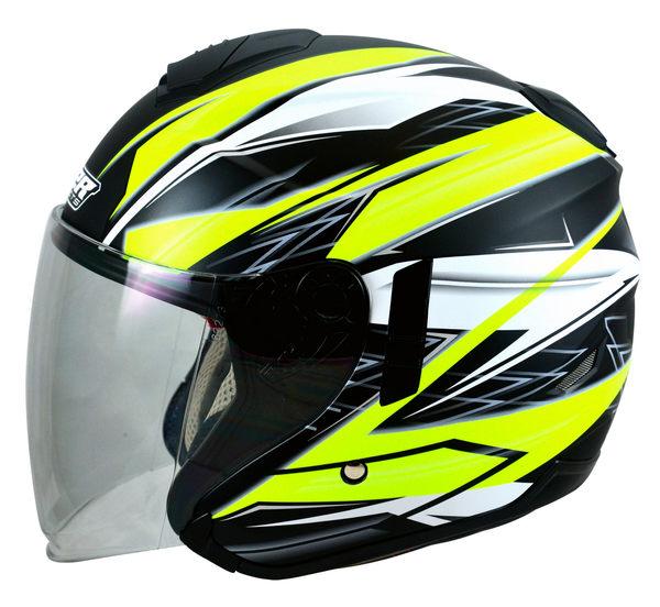 [中壢安信]M2R FR-1 FR1 #9 消光黑螢光黃 半罩 安全帽 四分之三 3/4 內置遮陽鏡片