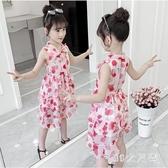 女童連身裙夏裝2020新款洋氣碎花雪紡裙子小女孩韓版無袖洋裝 EY11794 【MG大尺碼】