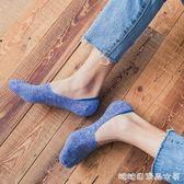 襪子男士船襪夏季純棉薄款短襪低幫淺口防臭矽膠防滑隱形襪男夏潮 糖糖日繫森女屋