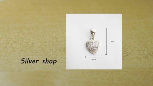 ╭☆ Silver shop ☆╯純銀 墜子 (單墜) 不含項鍊 素銀 [ sp 014 ]