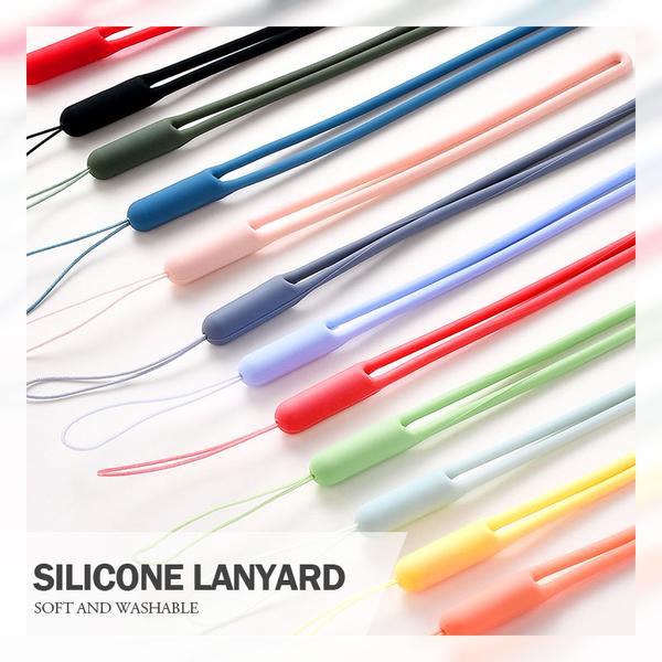 液態矽膠手機掛繩 柔軟手感極佳 攜帶方便可水洗 鑰匙串/磁扣/手機/記憶卡/工作證掛繩 總長19cm
