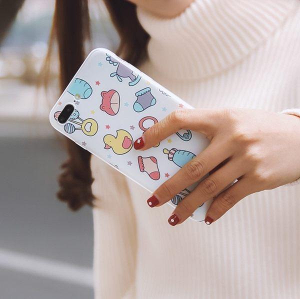[24hr-現貨快出] iPhone 6 7 plus 創意 卡通 手繪 手機殼 插畫 保護套