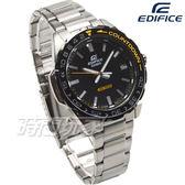 EDIFICE EFV-120DB-1A 科技新寵潛水風旋轉錶圈休閒錶 男錶 防水手錶 黑X黃 EFV-120DB-1AVUDF CASIO卡西歐