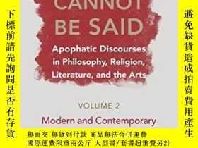 二手書博民逛書店On罕見What Cannot Be Said V. 2; Modern And Contemporary Tra