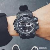戶外手錶 青少年戶外雙顯電子錶潮流初中男學生多功能機械防水夜光運動手錶 米蘭潮鞋館