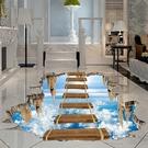 3D立體地貼 驚險橋海底裝飾商場廣場4S店活動創意防水耐磨自粘立體墻貼TW【快速出貨八折鉅惠】