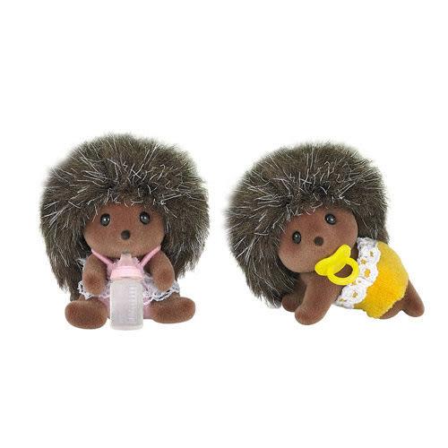 《 森林家族 - 日版 》刺蝟雙胞胎 ╭★ JOYBUS玩具百貨