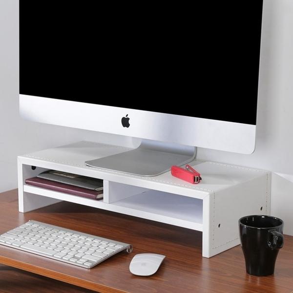 書櫃 書桌《百嘉美》 低甲醛仿馬鞍皮雙層桌上置物架/螢幕架/兩色可選 書櫃