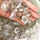 『晶鑽水晶』天然綠幽靈滾石 大顆碎石 綠幽水晶粒 200公克 招財 辦公室擺飾