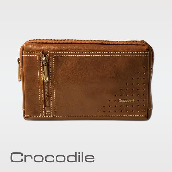Crocodile  100%義大利牛皮-植物自然鞣皮多功能手拿包 0104-45052