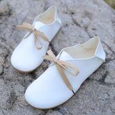 娃娃鞋新款森繫圓頭小白鞋平底兩穿娃娃鞋休閒文藝範學生鞋女單鞋潮 萊俐亞
